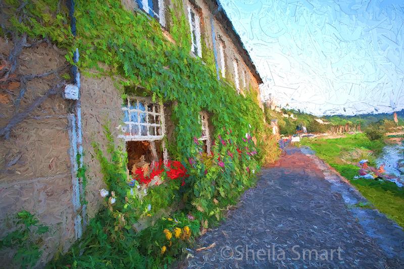 Restaurant at Les Andelys - an impressionist look
