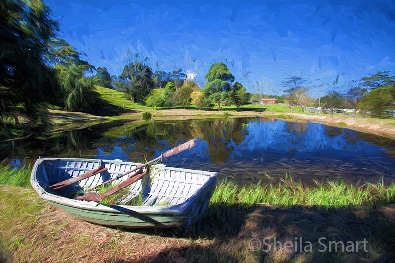 Annies boat - Van Gogh style!