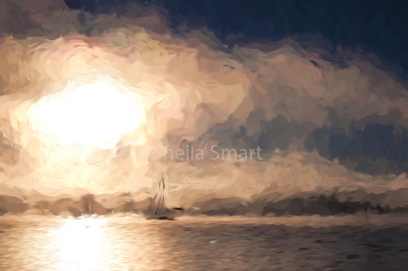 Turneresque yacht in mist