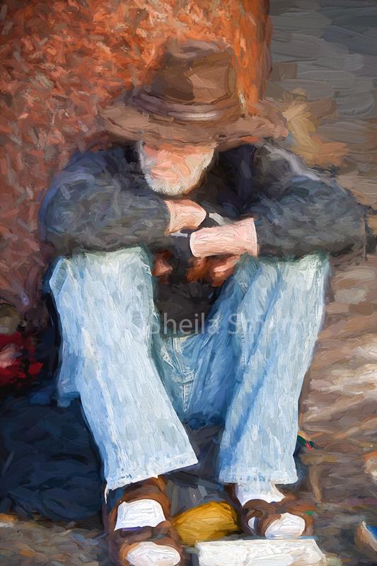 Man in akubra hat