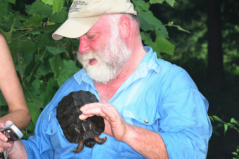 Dave with a wood turtle he found.