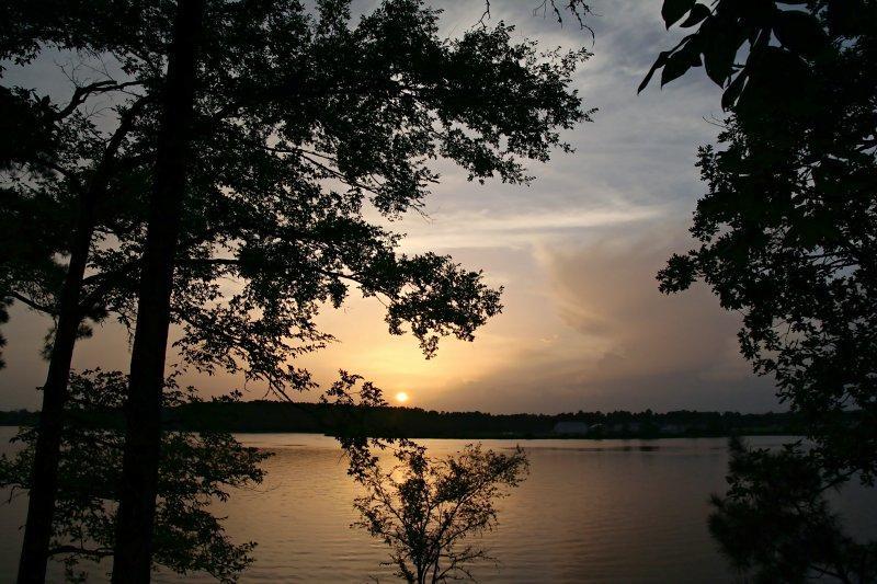 July sunset over Buhlow Lake