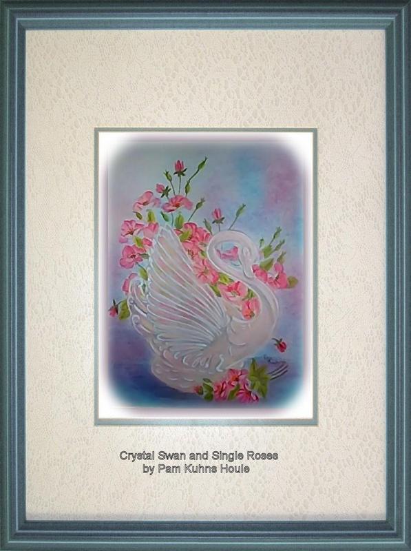 Wild Roses in Crystal Swan