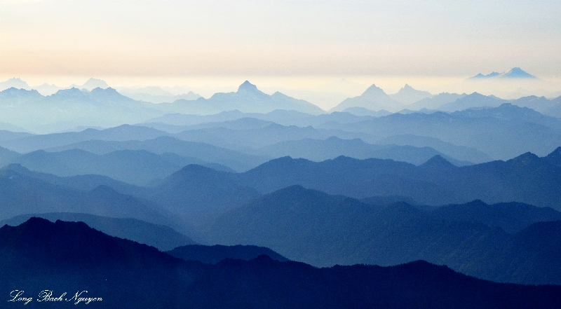 waves of ridges and peaks
