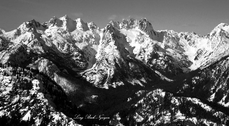 Chikamin Ridge, Chikamin Peak, Lemah Mtn, Chimney Rock, Summit Chief, Cascade Mountains
