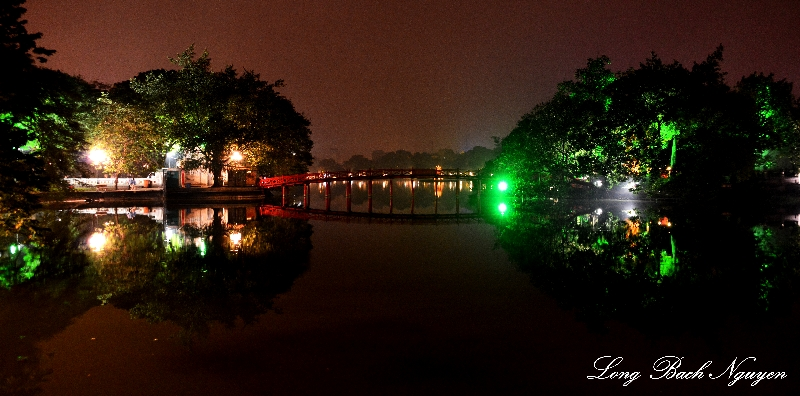 Ngoc Son Temple, The Huc Bridge, Lake Guom, Hanoi, Vietnam
