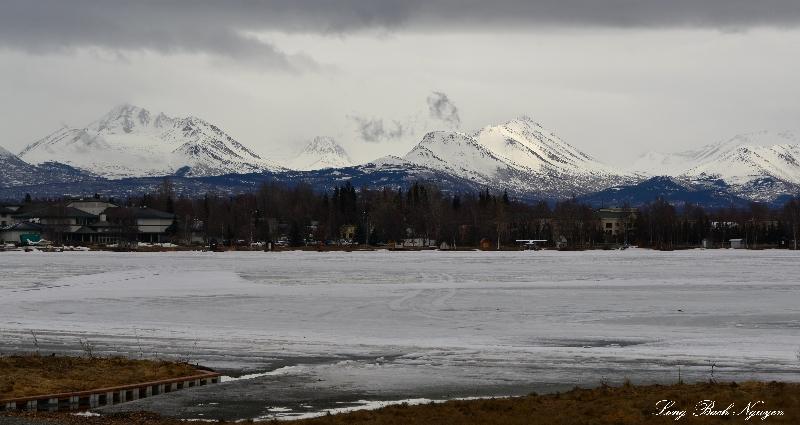 Lake Hood Seaplane base, Flatop mountain, Chugach Mountain, Anchorage, AK