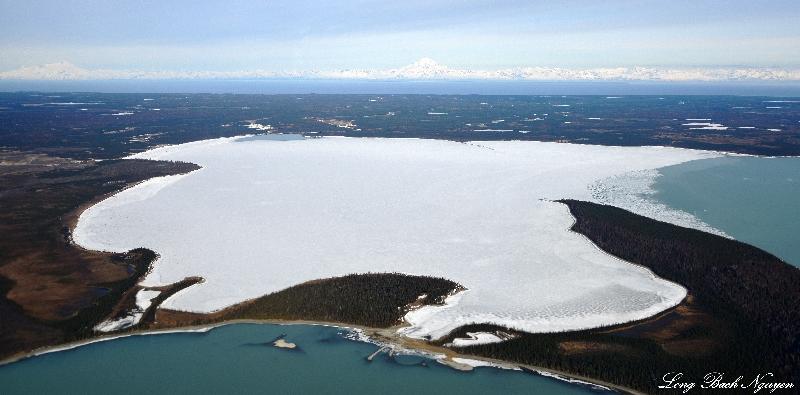 Lake Tustumena, Redoubt Volcano, Iliamna Volcano, AK