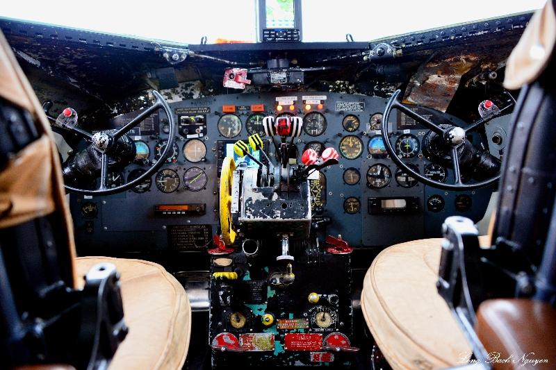 Super DC-3 Cockpit, Anchorage Airport, Alaska