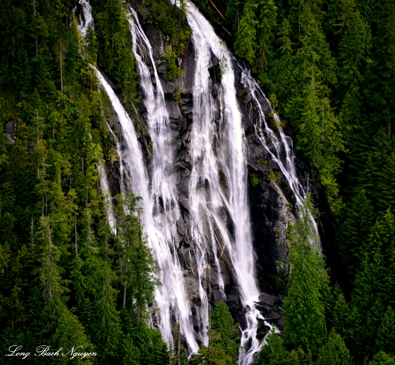 Bridal Veil Falls, Bridal Veil Creek, Lake Serene, Mt Index, Washington