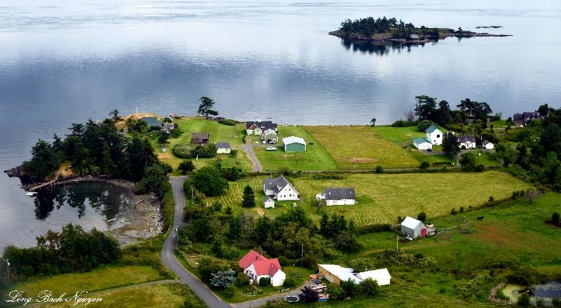 Dinner Island, Farms on Friday Harbor, San Juan Island, Washington
