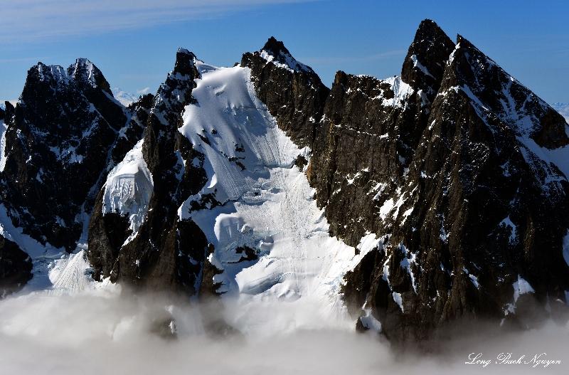 West Twin Needle, Mt Terror, Mt Degenhardt Glacier, Mt Degenhardt, Inspiration Peak, North Cascades Naitonal Park, WA