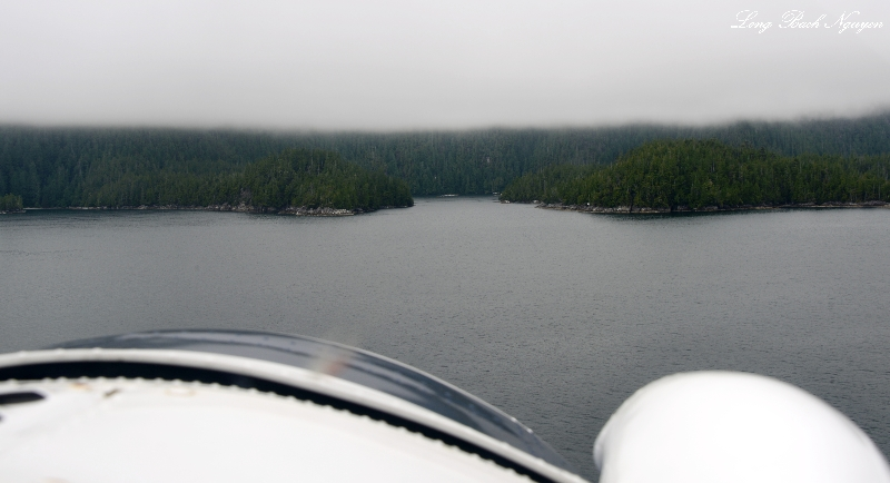 On final to Jane Bay, Vancouver Island, Canada