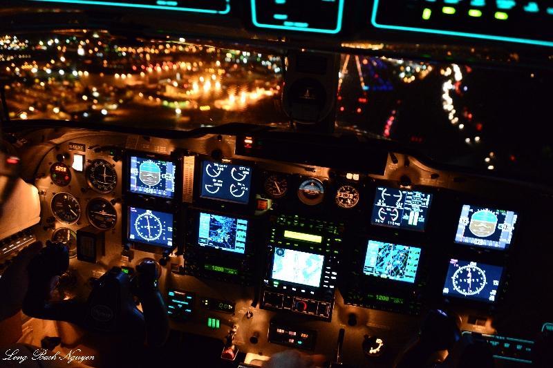 Piper Meridian Cockpit, Boeing Field, Seattle