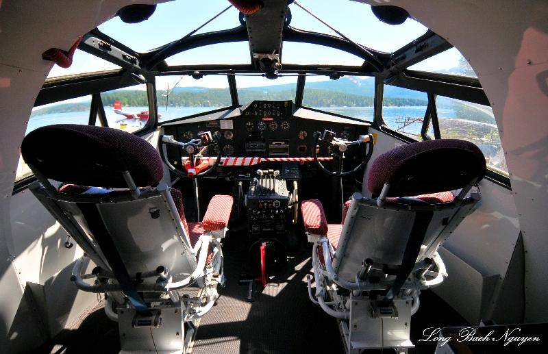 Martin Mars cockpit, Sproat Lake Waterdrome, Vancouver Island, Canada