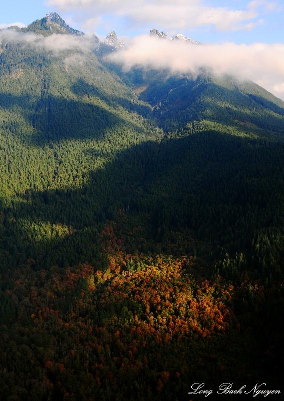 Fall foliage on Gunn Peak, Cascade Mountains, Washington