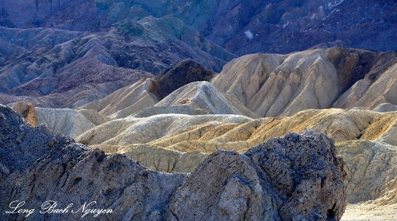 Tri-color landscape, Death Valley National Park, California
