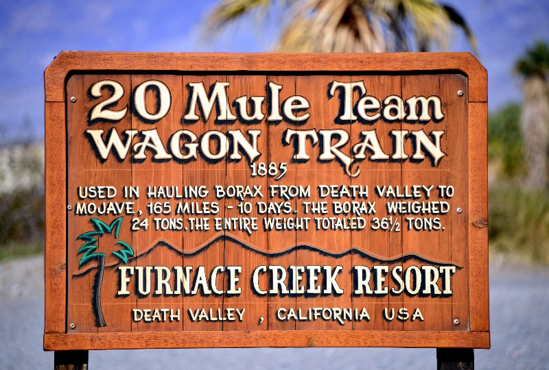 20 Mule Team Wagon Train, Furnance Creek, Death Valley, California