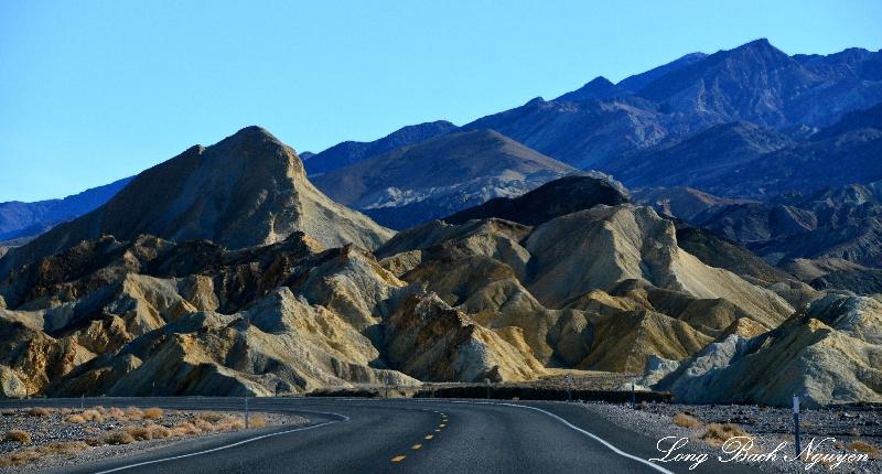 Colorful landscape, Death Valley National Park, California