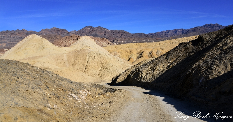 Road in 20 Mule Team Canyon, Death Valley, California