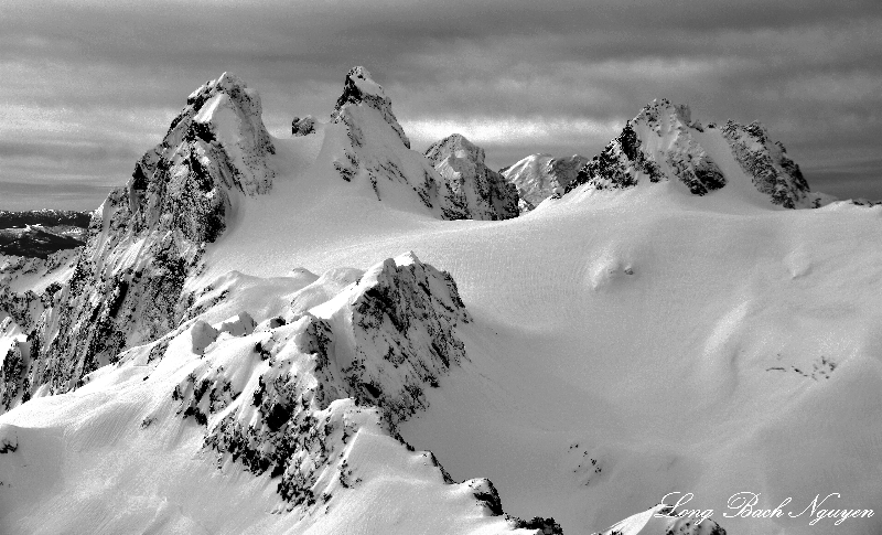 Overcoat Peak, Chimney Rock, Lemah Mountain, Mount Rainier, Cascade Mountains, Washington