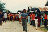 The truck bringing newcomers to Galang 1985