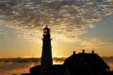 57DSC00661.jpg Portland Head Light LIghthouse Seasmoke at sunrise see links below