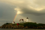 116DSC08950.may08added Rainbow over Nubble LIghthouse, which of these four would be best poster