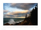 525 ACADIA NATIONAL PARK-Bass Harbor Head Lighthouse-dawn of the storm! 60mph winds
