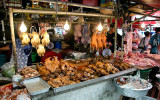 Bangkok market - anyone for meat?
