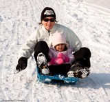 Mother & daughter downhill