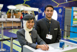 Etihad Airways ground staff at Abu Dhabi
