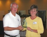 PRESERVED BEST OF SHOW  - 1957 19' Chris-Craft CLASSIC II Gail Pisa accepting for Harry Winter