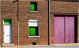 The greenredpurplewhite house