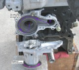 Water pump flow into engine