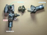 Coolant flow in thermostat housing