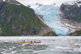 40-13314 -  Kayakers at Holgate Glacier