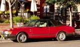 '91 Saab 'vertible in Sunday-morning sunshine in Aspen