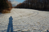 Tulakes Airstrip with the season's first snow