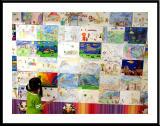 A Girl & Art Exhibition