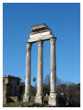 Three columns of the Temple of Castor and Pollux