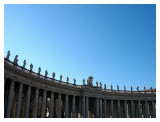 The 140 statues of saints along the Colonnade