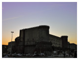 Roman fortress in the dusk