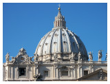 Michelangelo's mighty silver-blue dome