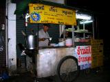 Food stall at night