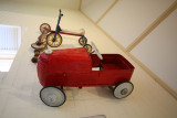 A pedal toy car from yesteryear. Camden Museum