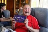 Denis - with his chocolates