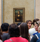 Admiring the Mona Lisa