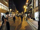 Grafton Street at night.