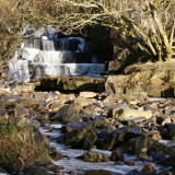 Teesdale falls in winter